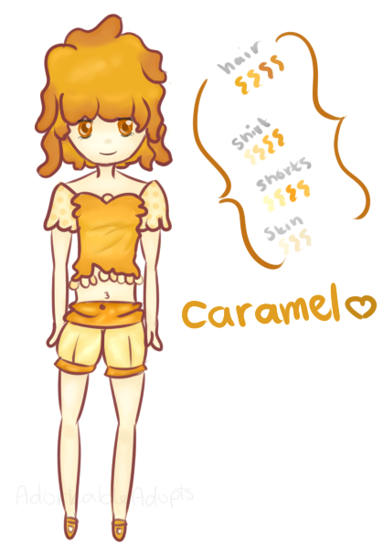 Caramel Girl AUCTION! by acidicapple