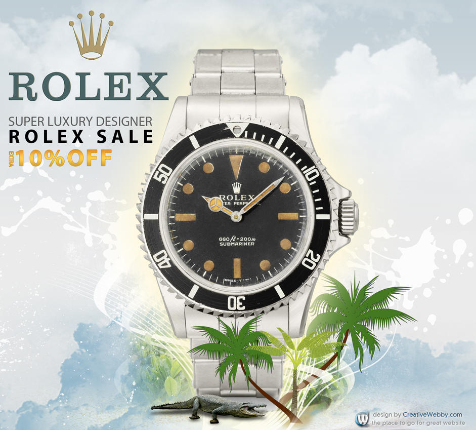banner ad design for ROLEX WATCHES by creativewebby on
