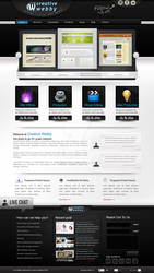 new website template by creativewebby