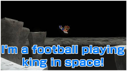 Mario the footall playing king in space by zgwrox