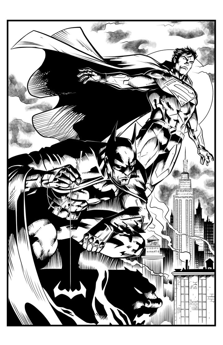 Batman Superman by mdmodeler
