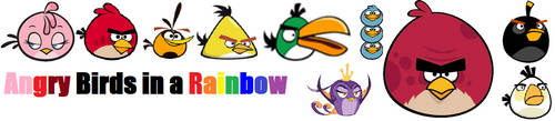 Angry Birds in a Rainbow by TrevLafoe
