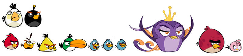 Angry Birds Flock Rainbow by TrevLafoe
