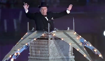 Timothy Spall as Churchill ordering the performers by TrevLafoe