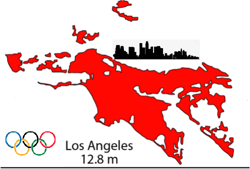 Los Angeles Olympic Map by TrevLafoe