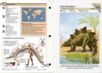 Stegosaurus (as seen in a WildLife Fact File Card) by TrevLafoe