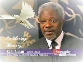 In Loving Memory Of Kofi Annan (with dove) by TrevLafoe