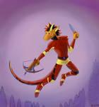 Dragon with a crossbow by Sapsanka