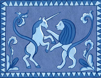 Lion and unicorn by sapsanka