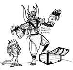 Spadamon and Olegmon by sapsanka