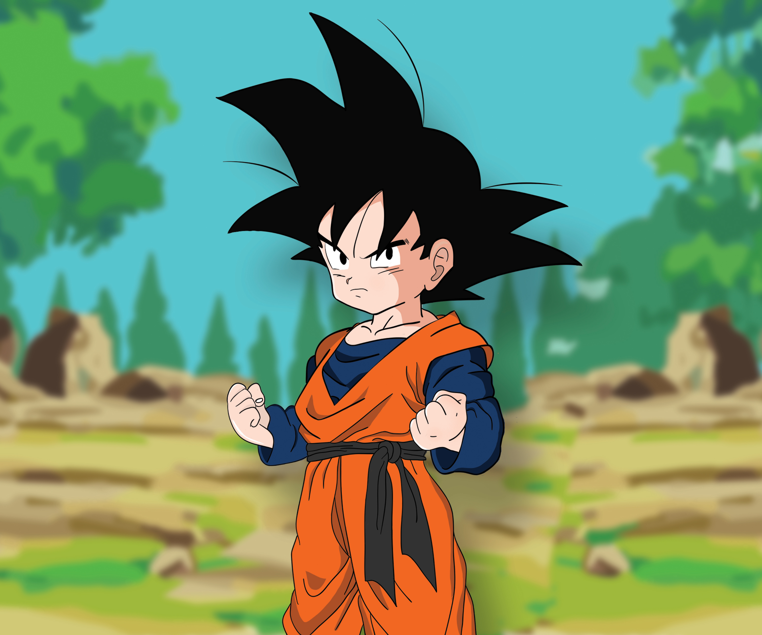 DBZ Goten Colour by KiranBenning