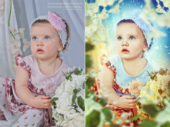 Portrait retouch. Befor and after. by ChudnayaMamba