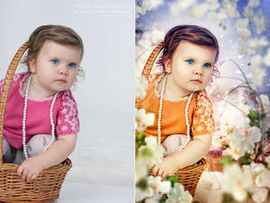 Portrait retouch 2. Befor and after.