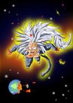 SSJ5 Raditz Destroys The Universe by Vegeta-Draws