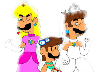 The Real Mario Ladies Trio by DahPinkGurl