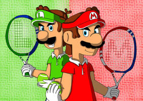 Tennis Bros. by DahPinkGurl