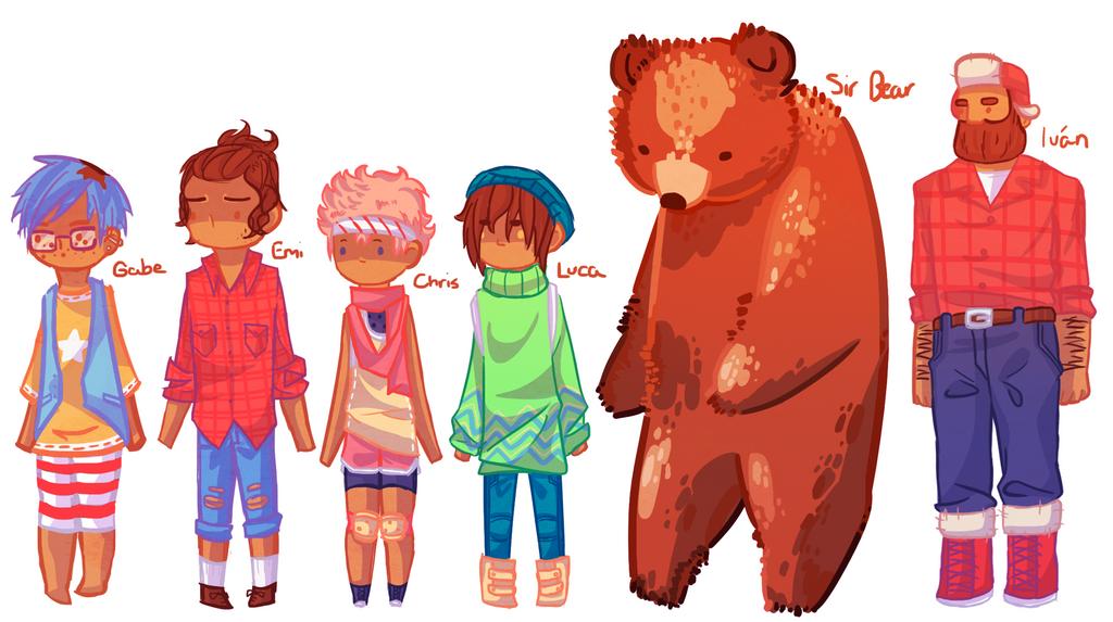 Line Up by NightmaresInChibi