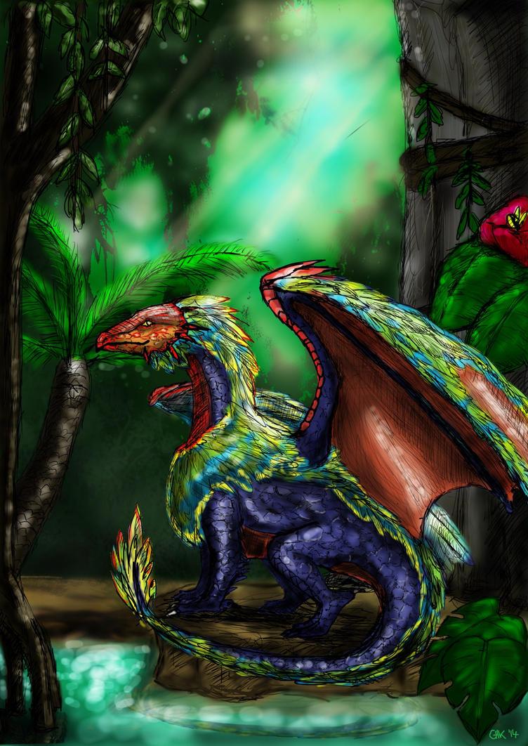 Tropical Dragon by Akhinti