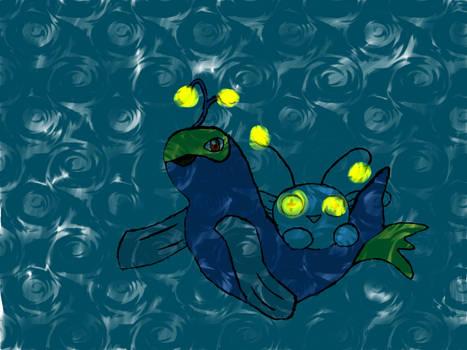 Deep sea chinchou and Lanturn