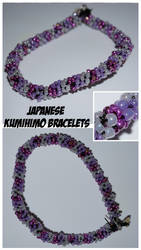 Japanese-Kumihimo-Bracelets-pearls-of-3-colors by camua