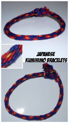 Japanese-Kumihimo-Bracelets-16 strands-flowers-red by camua