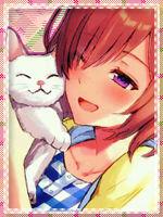 Avatar anime manga girl and cat