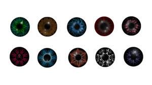 eye iris pupil stock 2 by StarsColdNight
