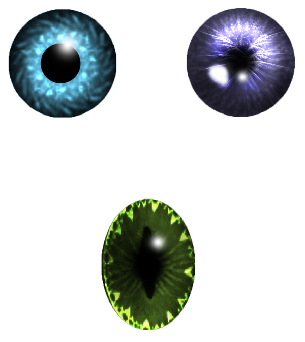Eye pupil set stock by StarsColdNight
