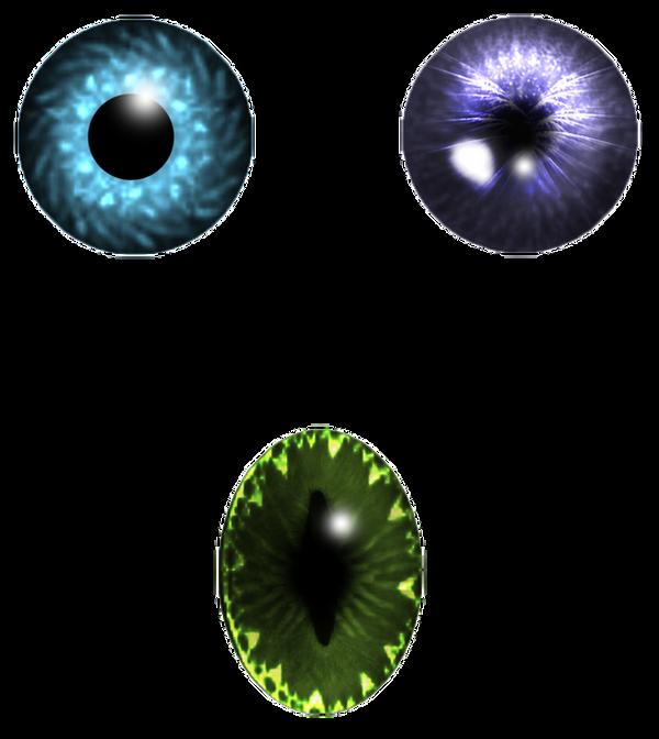 Eye pupil set stock by StarsColdNight