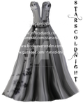 Grey dress PNG by starscoldnight