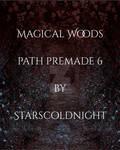 Magic woods path Premade Background 6