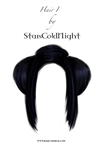 Hair png stock