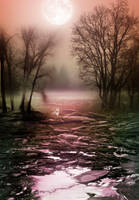 Lake and forest premade BG by StarsColdNight