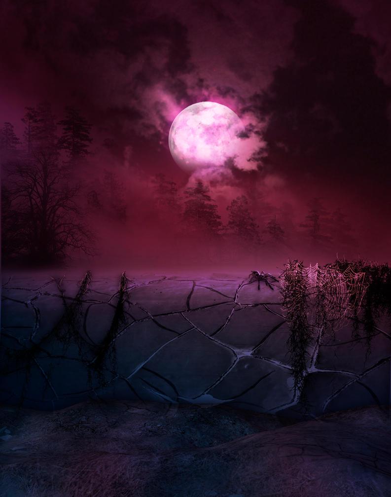 Red moonlight premade BG by StarsColdNight
