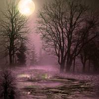 Moonlight lagun premade BG by StarsColdNight