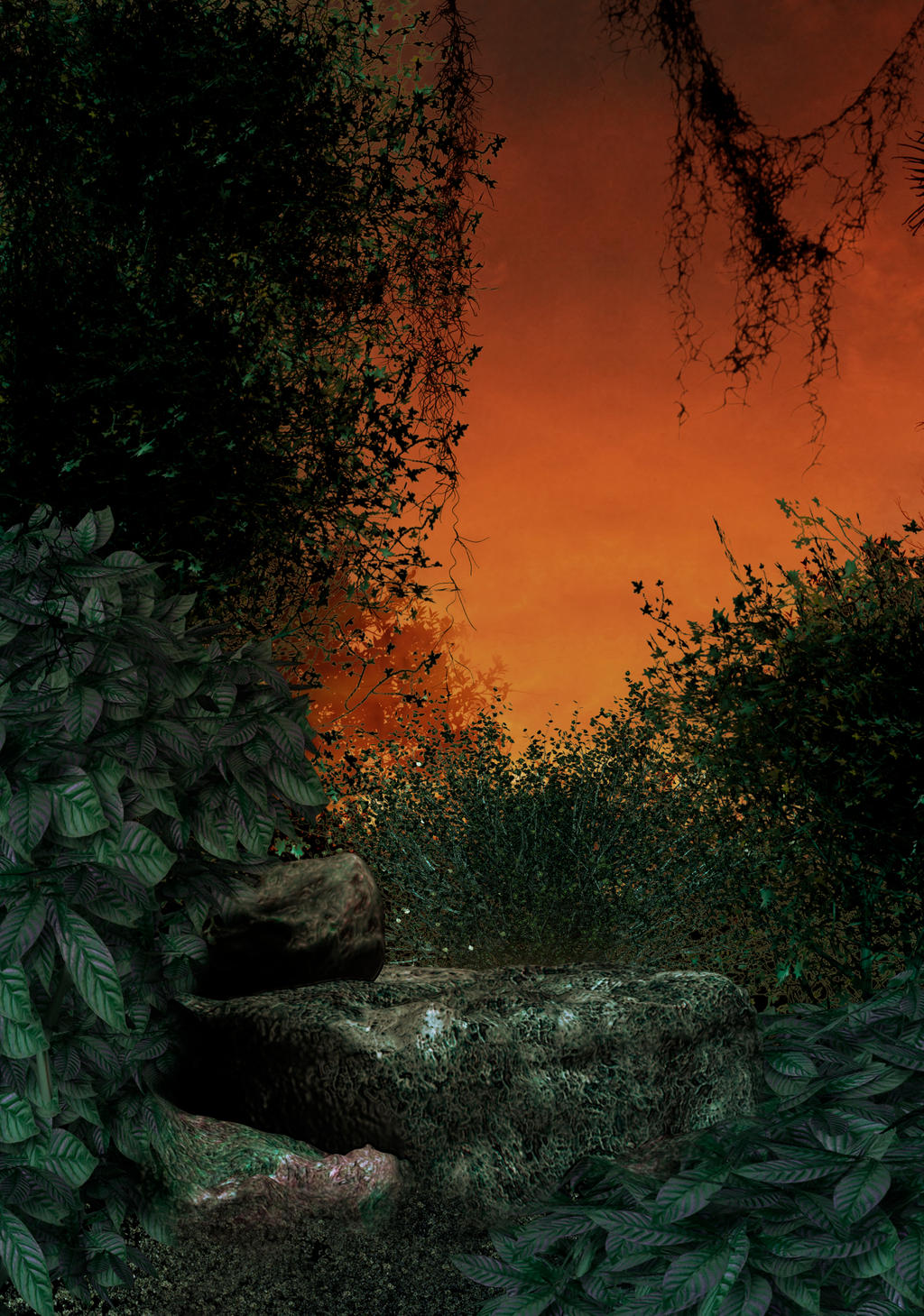 Jungle premade BG by StarsColdNight