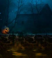 Halloween premade BG IV by StarsColdNight