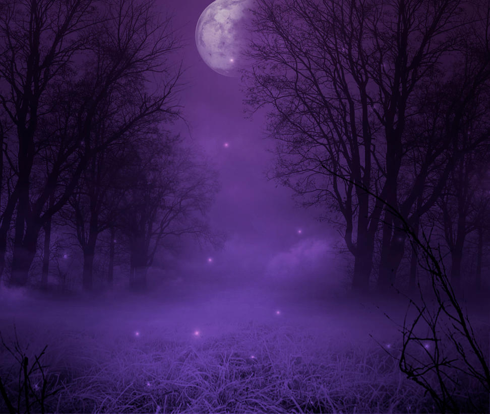 Purple moonlight premade Bg by StarsColdNight