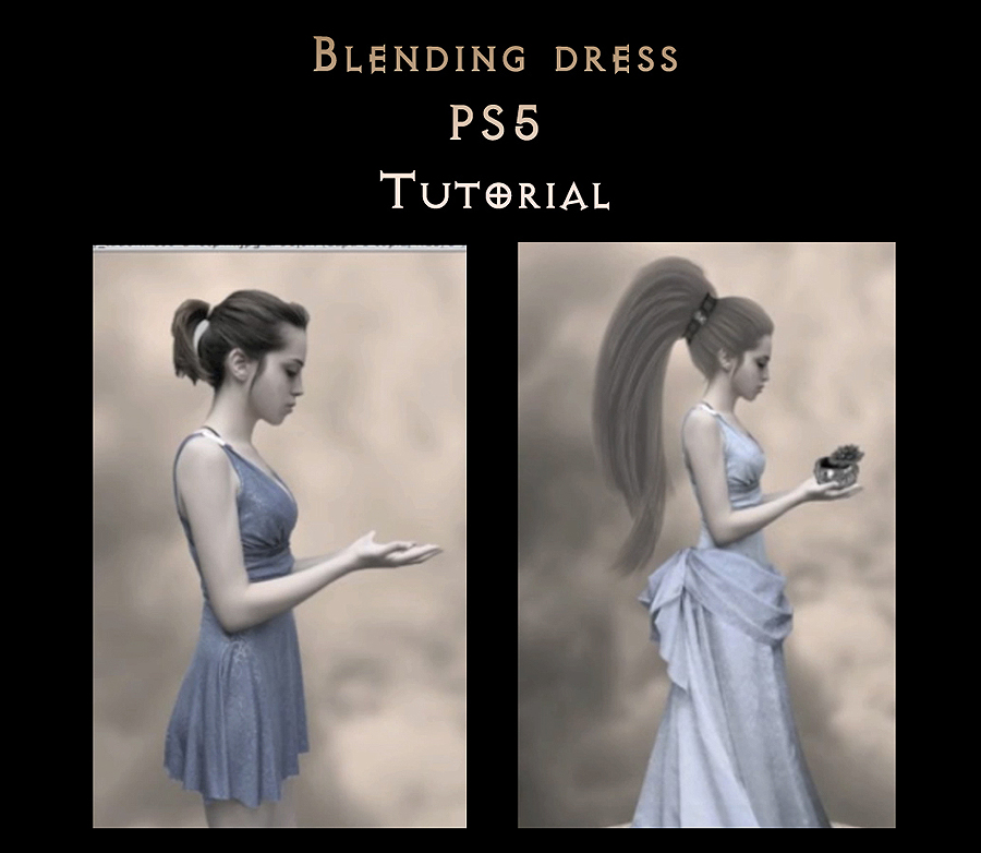 blending dress pS5 tutorial by StarsColdNight