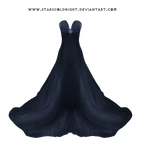 Dark Blue Dress By Starscoldnight