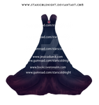 Dark Purple Dress By Starscoldnight