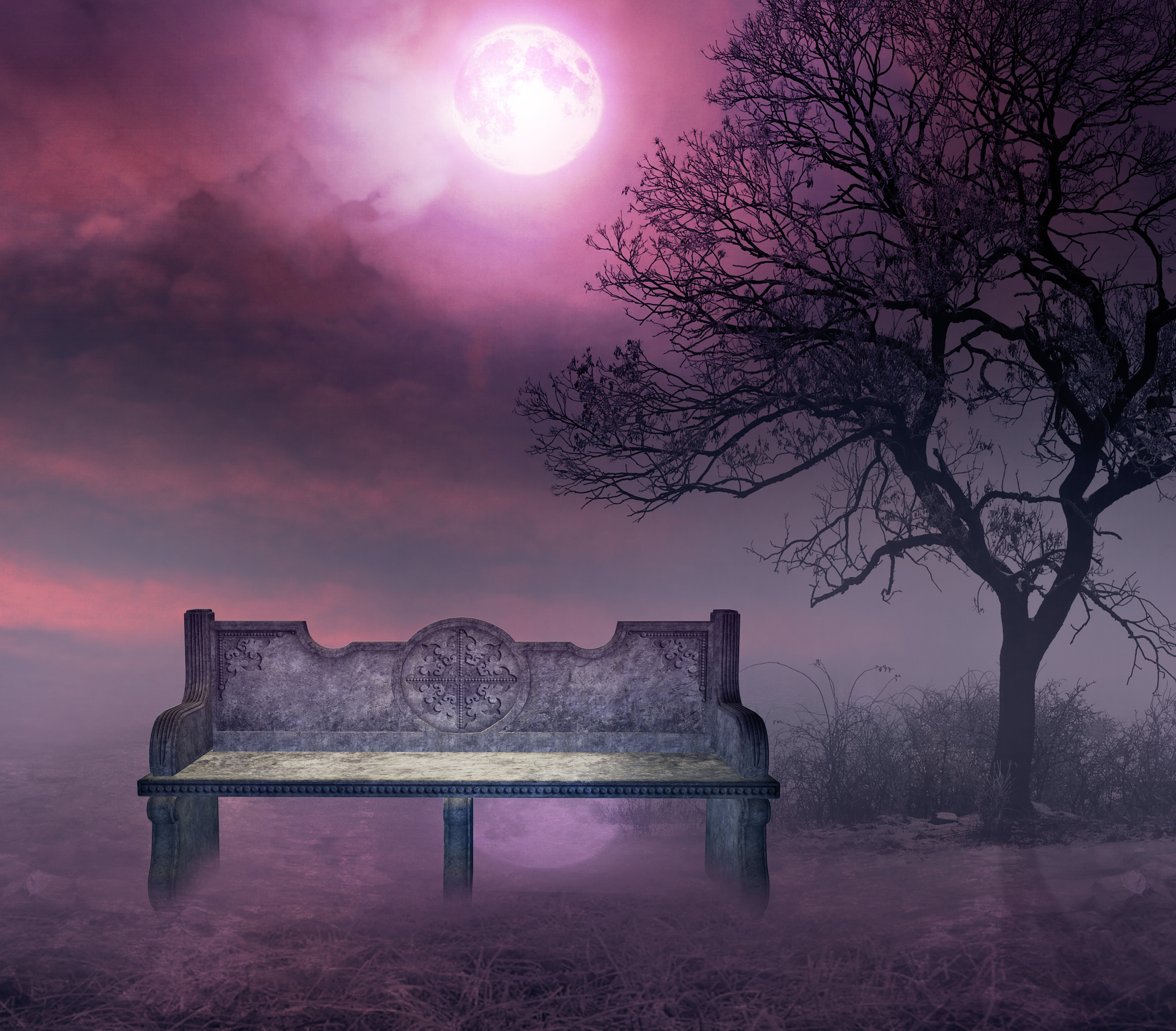 Purple Night Premade Bg By Starscoldnight by StarsColdNight