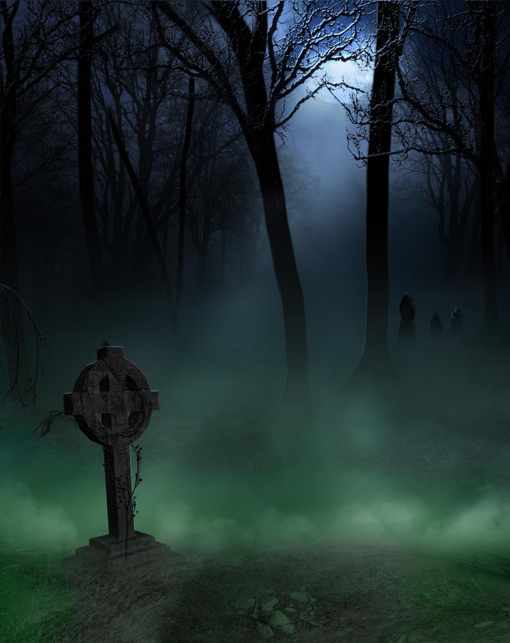 green Cementery premade bg by starscoldnight by StarsColdNight