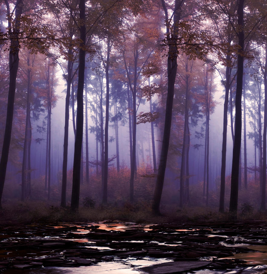 Forest and lake premade BG IV by StarsColdNight