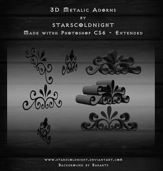 3d Metalic Adorns By Starscoldnight