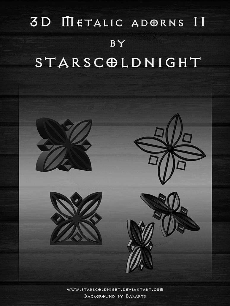 3d Metalic Adorns Ii By Starscoldnight