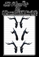 3D Horns IV by starscoldnight by StarsColdNight