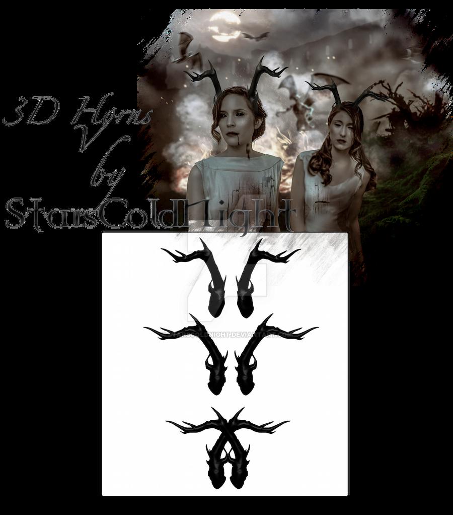 3D Horns V by starscoldnight by StarsColdNight