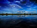 Lake and sky stock