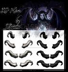 3D Horns VIII by starscoldnight